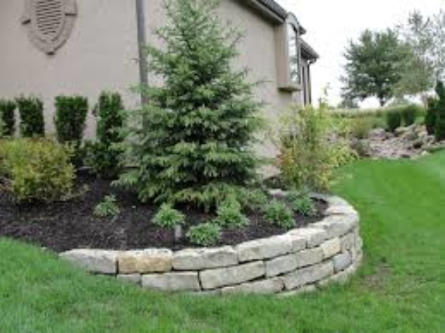 Retaining Wall Containing Garden Bed